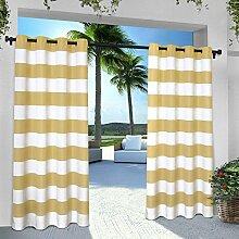 Exclusive Home Vorhänge eh8001–042–84g Indoor/Outdoor Cabana Stripe Tülle Top Fenster Vorhang Panel, Sundress, 54x 84Zoll), 2Stück