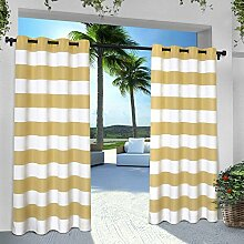 Exclusive Home Vorhänge eh8002–04 2–96 G INDOOR/OUTDOOR Cabana Stripe Tülle Top Fenster Vorhang Panel, Sundress, 54 x Beton, Set von 2