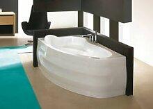 EXCLUSIVE LINE Asymmetrische Badewanne Eckwanne Acryl SANPLAST 150x100 Links cm mit Schürze Ablauf Silikon TOP!