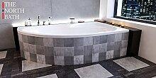 EXCLUSIVE LINE North Bath Alice Eckbadewanne Acryl 150x100; 160x100; 170x100 Schürze Ablauf TOP Qualität (160x100 cm Rechts, mit Wannenträger)