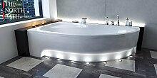 EXCLUSIVE LINE North Bath Alice Eckbadewanne Acryl 150x100 cm Links mit Schürze Ablauf TOP Qualitä