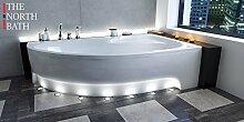 EXCLUSIVE LINE North Bath Alice Eckbadewanne Acryl 160x100 cm Rechts mit Schürze Ablauf TOP Qualitä