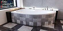 EXCLUSIVE LINE North Bath Alice Eckbadewanne Acryl 160x100 cm Links mit Wannenträger Ablauf TOP Qualitä