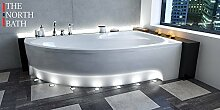 EXCLUSIVE LINE North Bath Alice Eckbadewanne Acryl 170x100 cm Rechts mit Schürze Ablauf TOP Qualitä