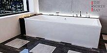 EXCLUSIVE LINE North Bath ISAR Rechteckbadewanne Acryl 170x75 cm mit Schürze Ablaufgarnitur Hochwertiger Sanitäracryl