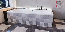EXCLUSIVE LINE North Bath ISAR Rechteckbadewanne Acryl 180x80 cm Wannenträger Ablaufgarnitur Hochwertiger Sanitäracryl