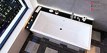 EXCLUSIVE LINE North Bath ISAR Rechteckbadewanne Acryl 180x80 cm Ablaufgarnitur Silikon Hochwertiger Sanitäracryl