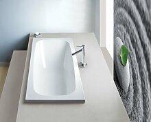 EXCLUSIVE LINE® Rechteck Badewanne Wanne Acryl SANPLAST 180x80 cm Ablauf Silikon TOP!