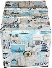 Exclusive Tischdecke 38x160 cm Maritim Baumwolle