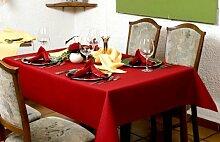 Exclusive Tischdecke eckig mit Bleiband im Saum aus deutscher Produktion mit LOTUSEFFEKT, pflegeleicht Rustika Farbe: bordeaux Maß: 145x135 cm, GRATIS Lieferung innerhalb Deutschlands