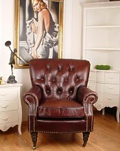 EXCLUSIVER ENGLISCHER CLUBSESSEL CHESTERFIELD LEDER