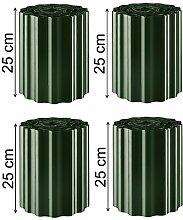 EXCOLO 36m Rasenkante Grün/Tannengrün 25 cm hoch