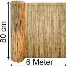 EXCOLO Schilfrohrmatte 80x600 cm lang Schilf
