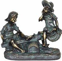Exhart Wippe Kinder Statue |Patina beenden