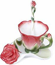 Exing Kaffeetassen Porzellan rosa Chinesisches