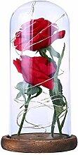 Exing rote Blumen Lichterkette batteriebetrieben