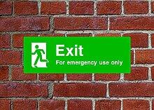 Exit Notfall Verwendung HSE Schild Gesundheit &