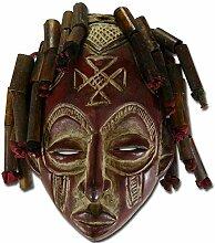 Exklusive Afrika Holzmaske 'Chokwe Tribe'
