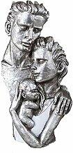Exklusive Deko Bueste Skulptur Familie aus Keramik