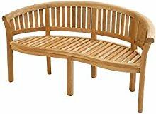 Exklusive Gartenbank aus Teak Holz/halbrund /