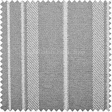 Exklusive Stoff weich wie Baumwolle uphosltery Woven Stoff Breite Streifen Grau Weiß Farbe Ideal für Möbel Einrichtung Material