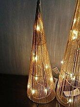 Exklusive Weihnachtsbeleuchtung Kegel XL mit 20 LED warmweiß 60 cm Deko Leuchten - wunderschöne Deko Figur Weihnachten beleuchtet mit 20 warmweißen LED