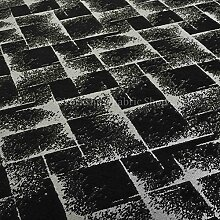 Exklusiver Stoff, schwarz silber Farbe glänzend Geometrische Design Polster Vorhang Chenille Muster Stoff ideal für Möbel Einrichtung Material