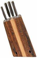 exklusiver, von handgefertigter Messerblock aus
