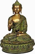 Exotic India Buddha-Statue, Messing, Grün