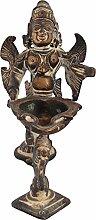 Exotic India Garuda Lampe, Antik-Optik, Größe: