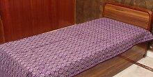 Exotic India violett Einzelbett Tagesdecke aus