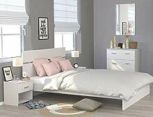 expendio Doppelbett Galeno weiß 160x200 Ehebett