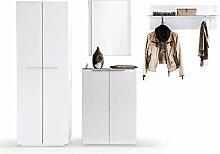 expendio Garderobe Cooper 18 weiß Hochglanz