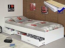 expendio Jugendbett, Bett 90x200 cm Weiss +