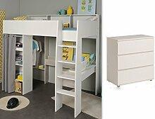 expendio Jugendzimmer Tomke 12 weiß 205x193x132