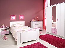 expendio Kinderzimmer Beauty 12, 4-TLG weiß rosa,