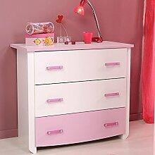 expendio Kommode weiß rosa 90x79x45 cm,
