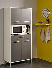expendio Küchenschrank Opika 4 80x185x43 cm weiß