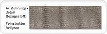 expendio Polsterbett Larissa Kopfteil glatt Varianten Bettgestell Futonbett Doppelbett Singlebett Bett Schlafzimmer Jugendzimmer, Liegefläche:140 x 200 cm, Farbe:hellgrau
