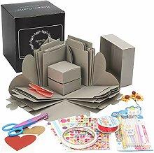 Explosion Fotobox (grau) – vormontiert Ideal als