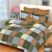 exporthub Beautiful 120TC Baumwolle Green Box Doppelbett Bettunterlagen mit 2Kissen Bezüge,, ehbs024)