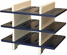 Expovinalia Weinregal 12Flaschen, Holz, Blau,