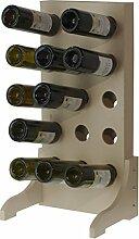 Expovinalia Weinregal für 15Flaschen, Holz,