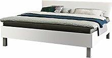 Express Möbel Bett Polarweiß, Liegefläche 120x200 cm, Art Nr. 99109-070