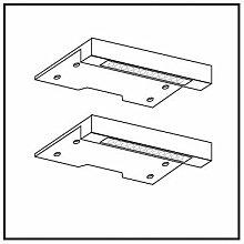 Express Möbel Schränke Kranzbeleuchtung 2 er Pack, alufarben, Schrankzubehör, Art Nr.  97041-800