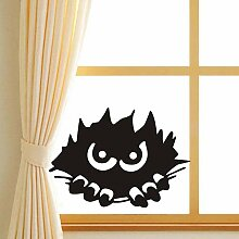 EXQART Wandaufkleber Scary Monster Peeking