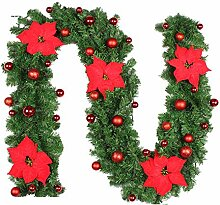 EXQUILEG 2.7m Weihnachtsgirlande Tannengirlande