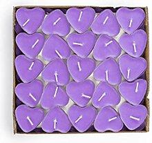 EXQUILEG 50x Kreative Romantische Herz Kerzen,