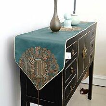 Exquisit,Chinesische Art,Luxuriöse,Tischtischflagge/Simple,Mode,Kaffeetischflagge/Bett-runner-A 30x180cm(12x71inch)