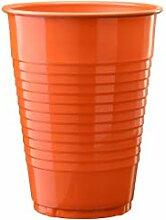 Exquisite Einweg-Plastikbecher II 50 Stück orange